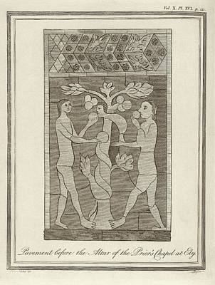 Temptation Of Adam And Eve Print by Middle Temple Library