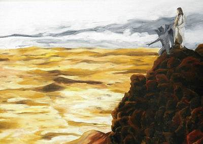 Temptation Of Christ Original by Liz Young