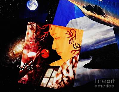 Cosmic Space Mixed Media - Temptation Of Eve by Sarah Loft