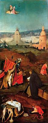 Moral Painting - Temptation Of Saint Anthony - Right Wing by Hieronymus Bosch