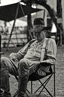 Cowboy Hat Photograph - Cowboy And The Ten Gallon Hat by Jonathan Davison