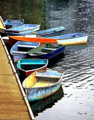 Dale Ford Digital Art - Ten Rockport Dinghies by Dale   Ford