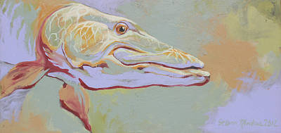 Musky Painting - Ten Thousand Casts by Steven Mockus