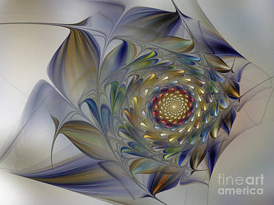 Image Composition Digital Art - Tender Flowers Dream-fractal Art by Karin Kuhlmann