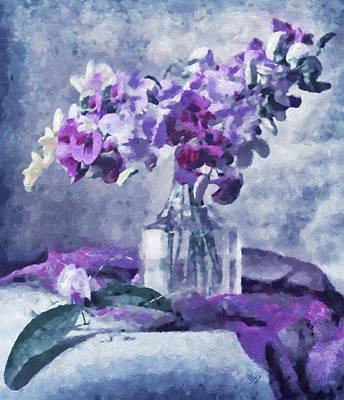 Floral Still Life Mixed Media - Tender Moments Still Life by Georgiana Romanovna