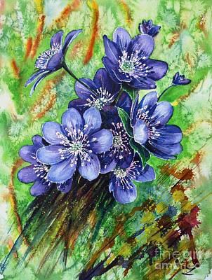 Tenderness Of Spring Print by Zaira Dzhaubaeva