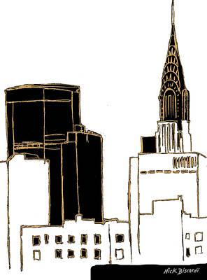 Empire State Building Digital Art - Tenement Empire State Building by Nicholas Biscardi