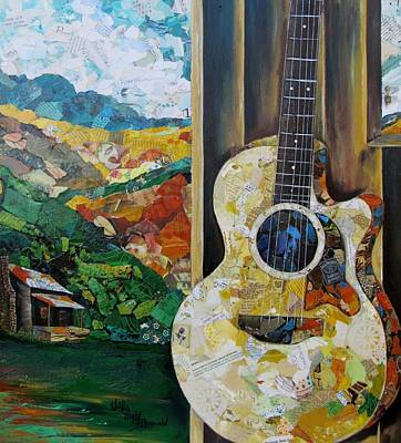 The Hills Mixed Media - Tennessee Hills by Kathy Fitzgerald