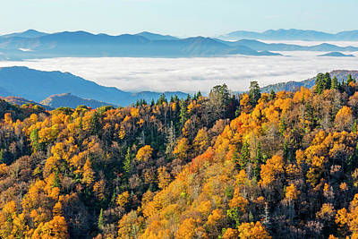 Tennessee, North Carolina, Great Smoky Print by Jamie and Judy Wild