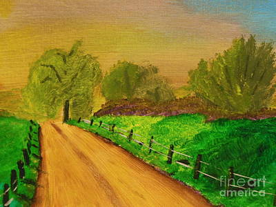 Harold Greer Painting - Tennessee Road by Harold Greer