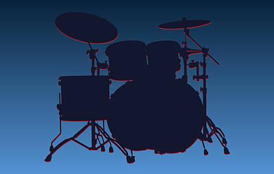 Drum Photograph - Tennessee Titans Drum Set by Joe Hamilton