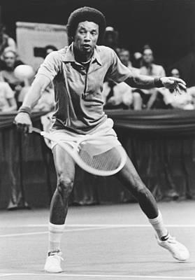 Tennis Champion Arthur Ashe Print by Underwood Archives