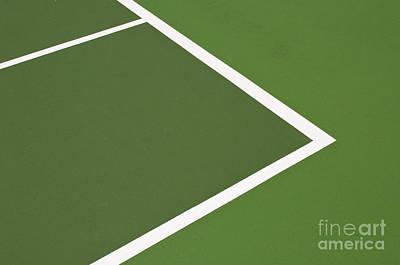 Tennis Court Print by Luis Alvarenga
