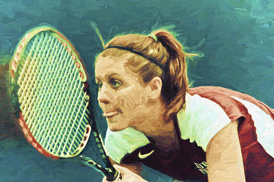 Tennis Iupui Digitally Painted Dh Print by David Haskett