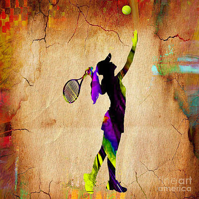 Tennis Print by Marvin Blaine