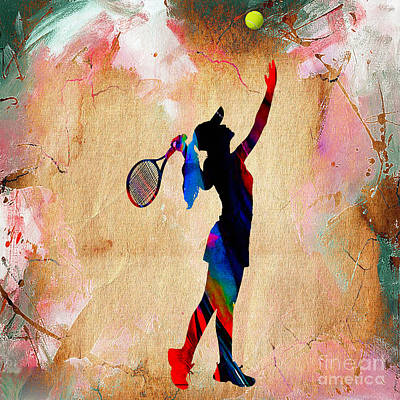 Tennis Match Print by Marvin Blaine