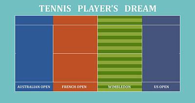 Venus Williams Digital Art - Tennis Player-s Dream by Carlos Vieira