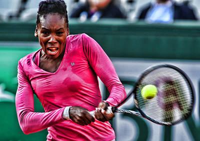 Venus Williams Photograph - Tennis Star Venus Williams by Srdjan Petrovic