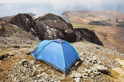 Glen Brittle Photograph - Tent by Ashley Cooper