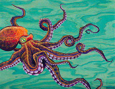Octopus Painting - Tentacles by Emily Brantley
