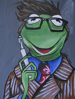 Muppets Painting - Tenth Doctor Kermit The Frog by Lisa Leeman