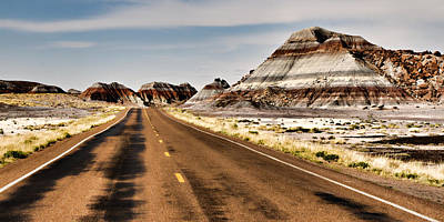 Blue Mudstone Print featuring the photograph Tepees Among The Road by Lana Trussell