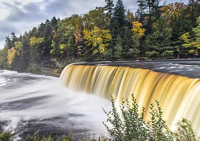Tahquamenon Falls In Autumn  Print by John McGraw