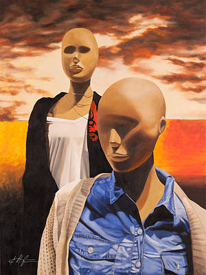 Mannequin Painting - Terminal Eyes by Karl Melton