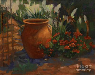 Terra Cotta Garden Original by Maria Hunt
