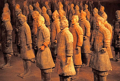 Terra Cotta Soldiers Photograph - Terra Cotta Soldiers by Dennis Cox ChinaStock