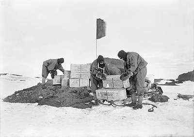 Rations Photograph - Terra Nova Antarctic Depot Laying by Scott Polar Research Institute