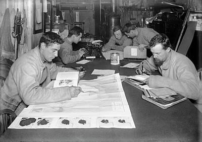 Typewriter Photograph - Terra Nova Antarctic Explorers by Scott Polar Research Institute