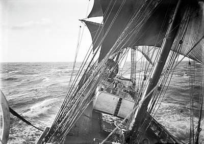 Sea Swell Photograph - Terra Nova Antarctic Sailing by Scott Polar Research Institute
