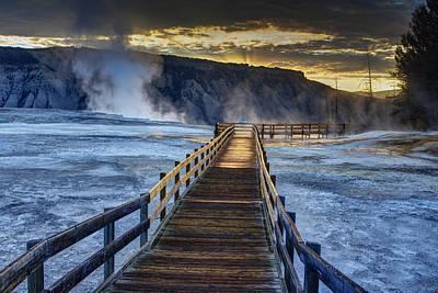 Mammoth Photograph - Terrace Boardwalk by Mark Kiver