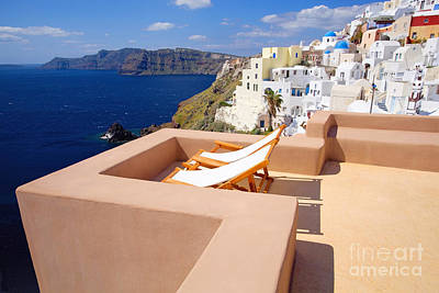 Vacances Photograph - Terrace With A Good View by Aiolos Greek Collections