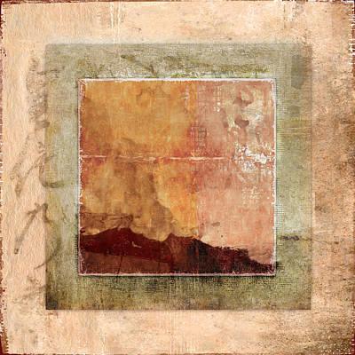 Zen Digital Art - Terracotta Earth Tones by Carol Leigh