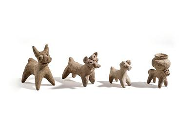 Ceramics Photograph - Terracotta Syro-hittite Bulls by Science Photo Library