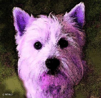 George Pedro Art Painting - Terrier Love by George Pedro