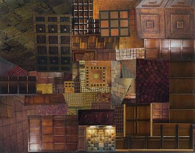 Mosaic Tesserae Tiles Mixed Media - Tesserae Secundus by Denise Mazzocco