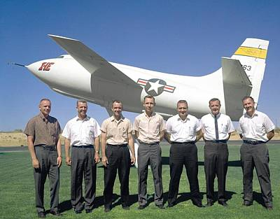 Test Pilots And X-1e Aircraft, 1962 Print by Science Photo Library