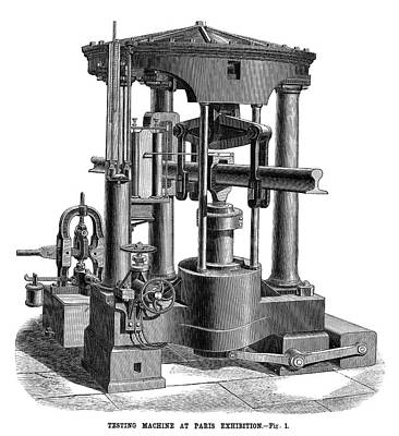 Testing Machine, 1878 Print by Granger