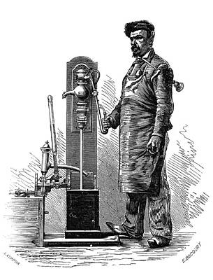 Testing Pumps Print by Science Photo Library