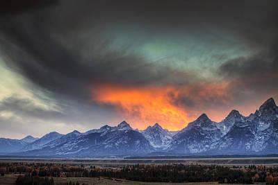 Beauty Mark Photograph - Teton Explosion by Mark Kiver