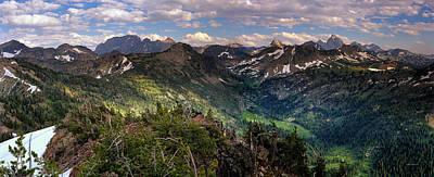 Teton Panoramic Print by Leland D Howard