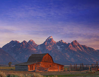 Sunrise Photograph - Teton Sunrise by Darren  White