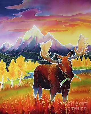 National Parks Painting - Teton Sunrise by Harriet Peck Taylor