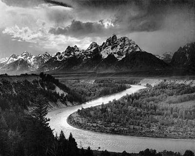 Tetons And The Snake River Print by Ansel Adams