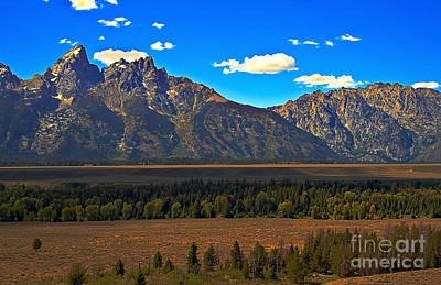 Outlook Photograph - Tetons Mountians by Robert Bales