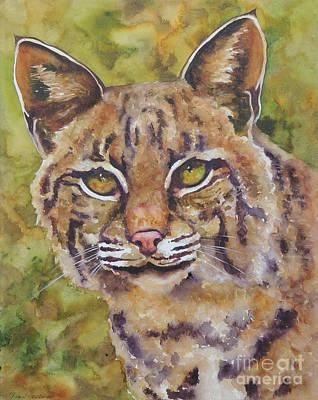Texas Bobcat Print by Robin Hegemier