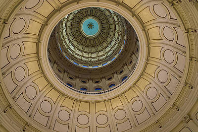Texas Capitol Inside Of The Dome Print by Eje Gustafsson